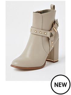 river-island-harness-detail-ankle-boot-beige