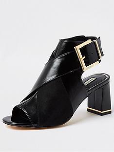 river-island-buckle-detail-shoe-boot-black