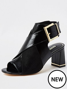 river-island-buckle-detail-shoe-boot-black