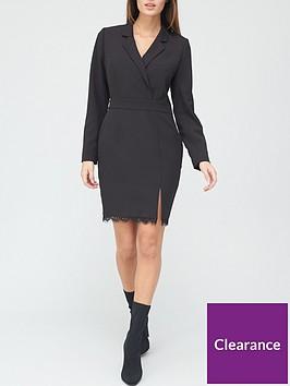 v-by-very-lace-trim-tailored-blazer-dress-black