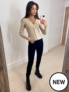 michelle-keegan-ribbed-button-through-knit-cardigannbsp--oatmeal