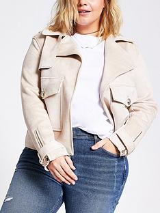 ri-plus-pocket-detail-suedette-jacket-light-brown