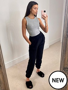 michelle-keegan-racer-neck-ribbed-vest-grey-marl