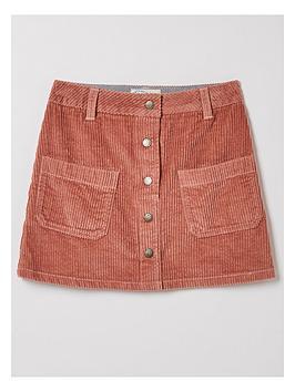 fatface-girls-cord-skirt-pink