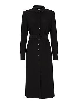 whistles-jersey-premium-belted-dress-black