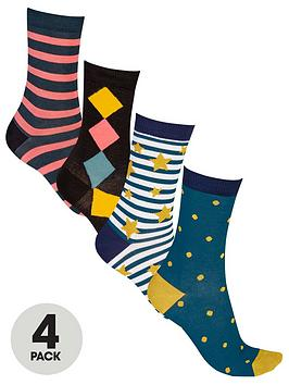 pretty-polly-4-pack-stars-stripes-and-dot-bamboo-socks-multi