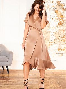 pour-moi-satin-midi-wrap-dress-mink