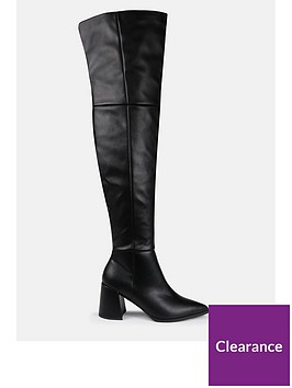 missguided-missguided-low-block-heel-over-the-knee-boots-black
