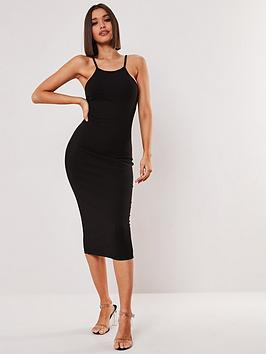 missguided-missguided-ribbed-90s-neck-bodycon-midi-dress-black
