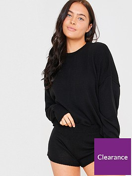 in-the-style-in-the-style-x-lorna-luxenbspknitted-co-ord-jumper-black