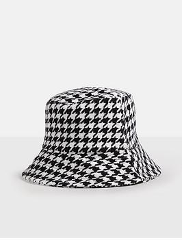 missguided-missguidednbsphoundstooth-check-bucket-hat-blackwhitenbsp