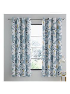 catherine-lansfield-inga-leaf-eyelet-curtains
