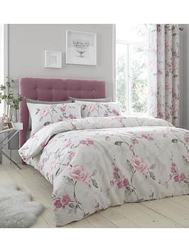 Product photograph showing Catherine Lansfield Floral Trail Duvet Cover Set - Exclusive To Us