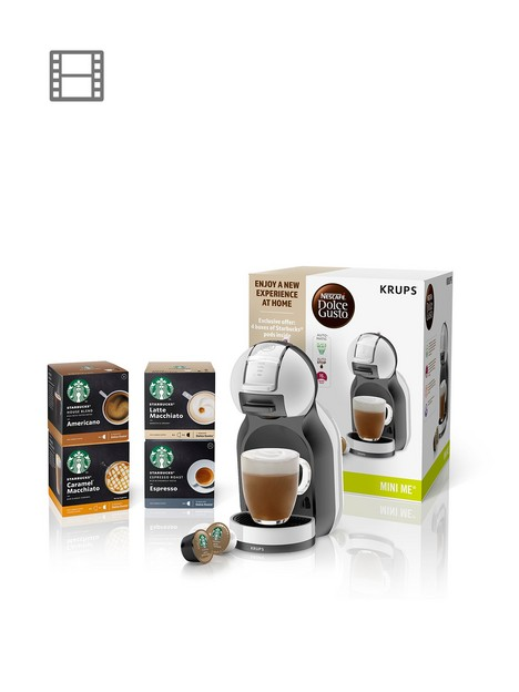 nescafe-dolce-gusto-mini-me-bundlenbspautomatic-coffee-machine-with-starbucksreg-coffee-by-krupsreg-arctic-grey-and-black-anthracite