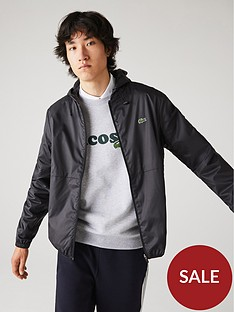 lacoste-zip-through-shell-jacket-black