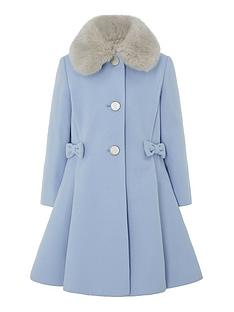 monsoon-girls-bow-coat-blue