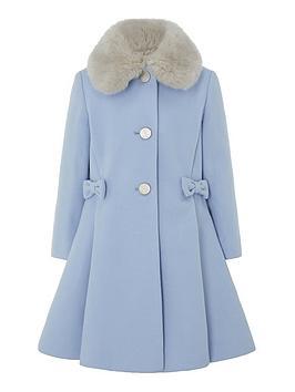 monsoon-girls-bow-coat-blue