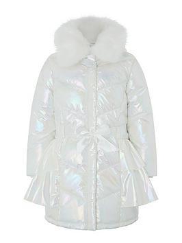 monsoon-girls-pearl-metallic-ruffle-padded-coat-ivory