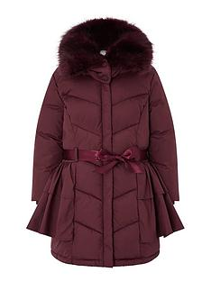 monsoon-girls-recycled-ruffle-padded-coat-burgundy