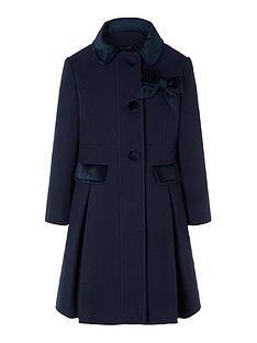 monsoon-girls-velvet-trim-coat-with-brooch-navy