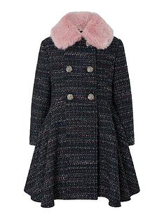 monsoon-girls-tweed-skirted-coat-navy