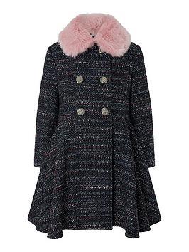 monsoon-girls-tweed-skirted-coat-navy