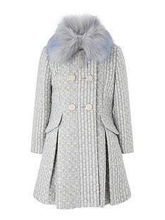 monsoon-girls-sparkle-tweed-coat-blue
