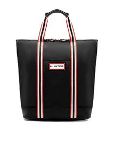 hunter-original-lightweight-rubberised-two-way-tote-bag-black