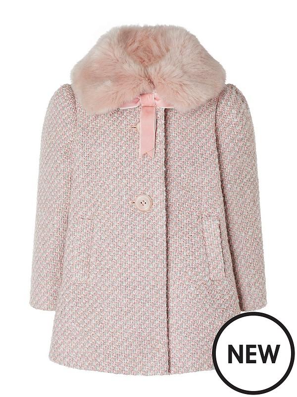 Pink Monsoon baby girls coat 12 18 months