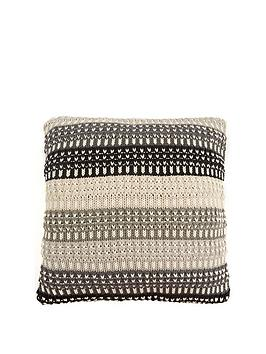 Product photograph showing Cascade Home Ombre Stripe Knitted Cushion