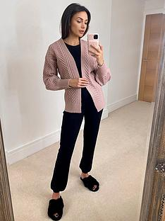 michelle-keegan-cable-detail-knitted-cardigan-blush