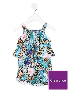 river-island-mini-mini-girls-leopard-tropical-playsuit--nbspmulti