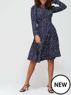v-by-very-round-neck-puff-sleeve-midi-dress-animal-print