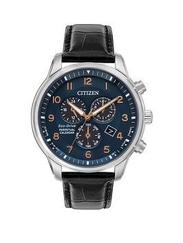 citizen-citizen-blue-and-rose-detail-chronograph-dial-black-leather-strap-mens-watch