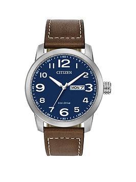 citizen-citizen-blue-daydate-dial-brown-leather-strap-mens-watch