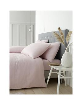 catherine-lansfield-soft-n-cosy-brushed-cotton-double-duvet-cover-and-pillowcase-set-pink