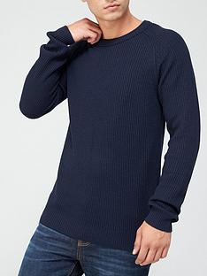 jack-jones-textured-crew-neck-jumper-navy