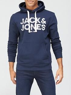 jack-jones-chest-logo-hoodie-navy