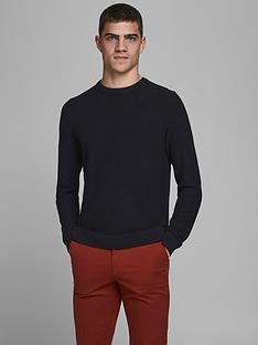 jack-jones-textured-knit-crew-neck-jumper-black