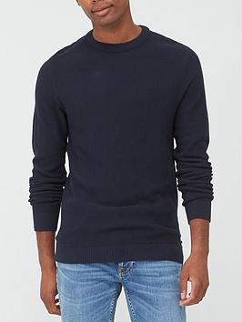 jack-jones-textured-knit-crew-neck-jumper-navy