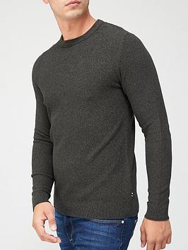 jack-jones-textured-knit-crew-neck-jumper-khaki