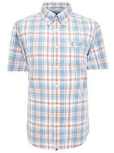 pretty-green-check-short-sleeve-shirt-blue