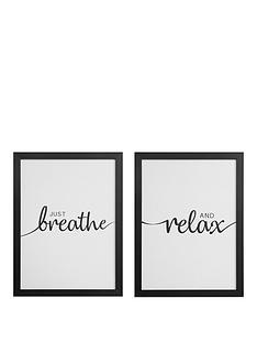 set-of-2-framed-wall-art-breathe-relax