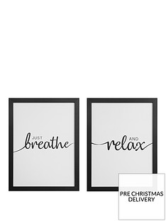 set-of-2-framed-wall-art-breathe-relax