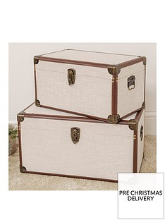hestia-set-of-2-linen-faux-leather-storage-trunks