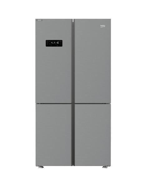 beko-mn1436224dps-91cm-wide-total-no-frost-4-door-american-fridge-freezer-brushed-steel