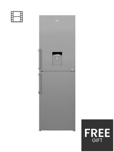 beko-cfp3691dvs-60cm-harvestfreshnbspfrost-free-fridge-freezer-with-water-dispenser-silver