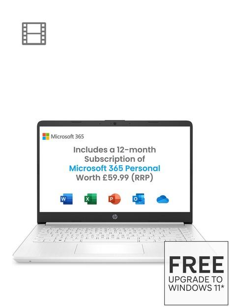 hp-stream-14-laptop-14-inch-hd-amdnbspa4-3020e-4gb-ram-64gb-storagenbspwindows-10s-microsoftnbsp365-personal-includednbspwhite