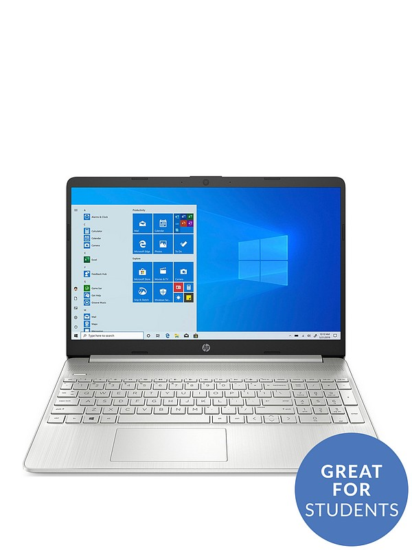 Hp 15s Laptop Intel Core I3 1005g1 8gb Ram 128gb Ssd 15 6 Inch Fhd Silver With Optional Microsoft Family 365 1 Year Littlewoods Com