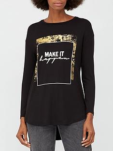v-by-very-printed-scoop-longline-t-shirt-black